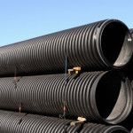 larger dia corrugated plastic pipe